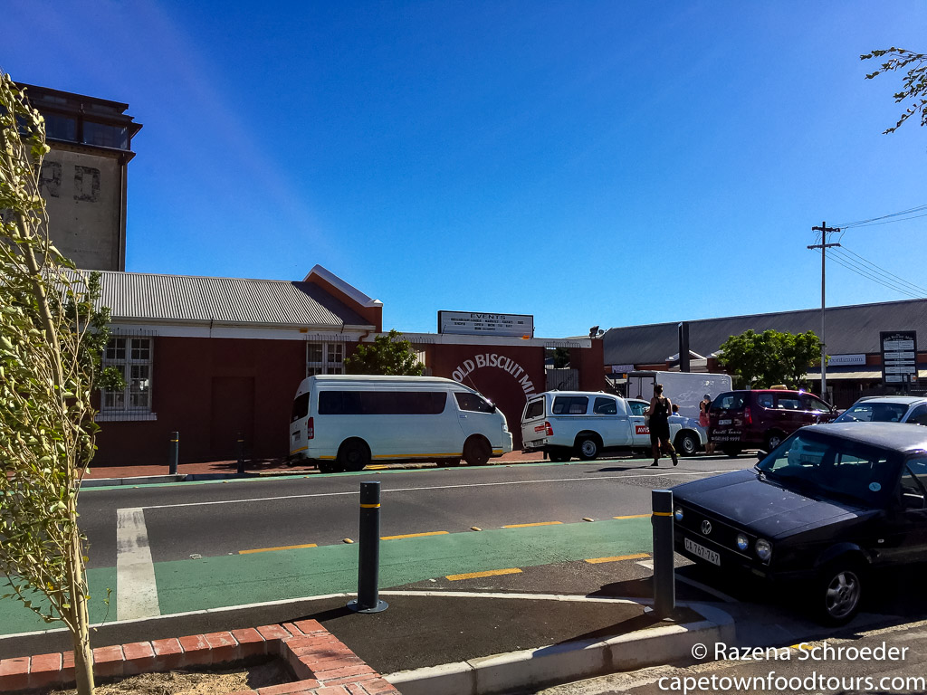 Shared Minibus Taxi at the Biscuit Mill Cape Town